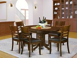 7pc Kenley oval dinette kitchen dining room set table w/ 6 w