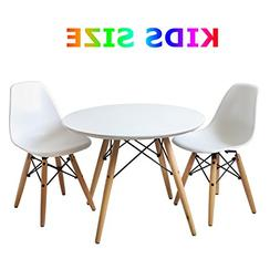 Buschman Eames Style Kids Modern Table with 2 Armless Chairs