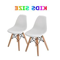 Buschman Set of Two White Eames-Style Kids Dining Room Mid C