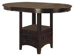Coaster Counter Height Dining Table Extension Leaf Dark Capp