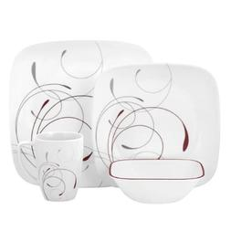 Corelle Square 32-Piece Dinnerware Set, Splendor, Service fo
