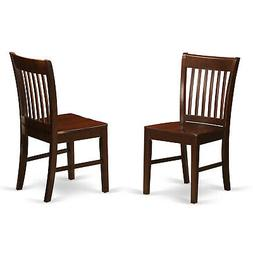 East West Furniture NFC-MAH-W Kitchen/Dining Chair Set with