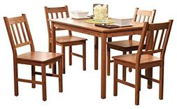 Edgeworth Dining Table Set for 4, Includes Table and 4 Chair