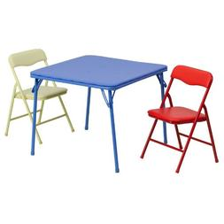 Flash Furniture Kids Colorful 3 Piece Folding Table and Chai