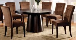 Furniture of America Primrose7-Piece Round Table Dining Set,
