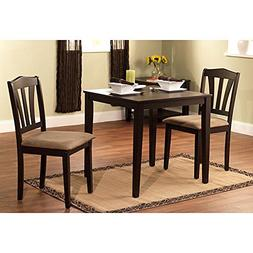 Harewood 3 Piece Dining Set, Constructed of Sturdy Rubber Wo