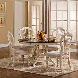 Hillsdale Furniture 5-Pc Round Dining Set in Old White