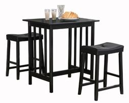 Homelegance 5310BK-MTL 3-Piece Counter Table and Stools in B