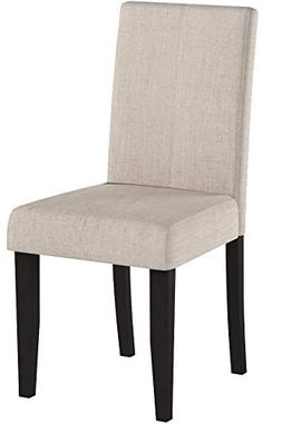 Merax WF015973 Classic Set of 2 Fabric Dining Chairs with So
