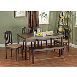 Metropolitan Brown/Espresso 6-Piece Dining Set with Table, B