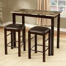 Roundhill Furniture Brando 3-Piece Counter Height Breakfast