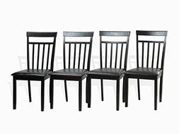 Set of 4 Warm Dining Room Kitchen Solid Wood Hardwood Chairs