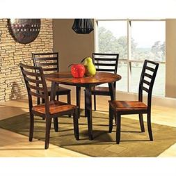 Steve Silver Abaco 5pc Round Dining Room Table Set in Acacia
