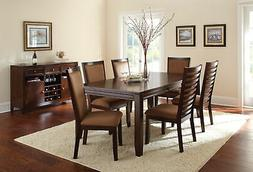 """Steve Silver Company Cornell Table with 18"""" Leaf"""