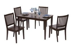 Target Marketing Systems 5 Piece Shaker Dining Set with 4 Sl