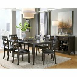 A-America Bristol Point 8 Piece Dining Set in Warm Gray