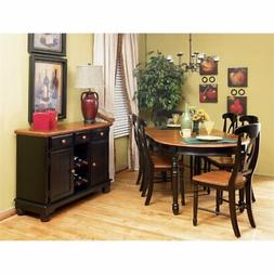 A-America British Isles 8 Piece Dining Set in Espresso