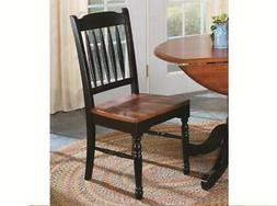 A-America British Isles Slatback Side Chair Oak-Black Set of