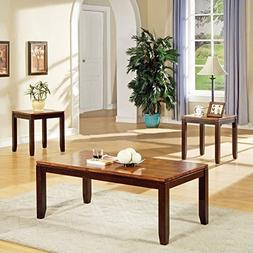 Steve Silver Abaco Occasional Table 3 Pc Set in Acacia Finis