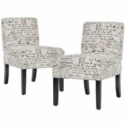 Accent Chair Armless Chair Dining Chair Set Of 2 Elegant Des