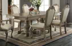 Acme Chateau De Ville 7 Piece Antique Dining Set Furniture 6