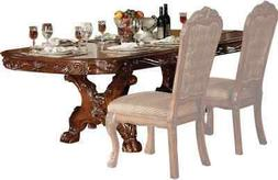 Acme Dresden Dining Table with Trestle Pedestal in Cherry Oa