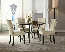 Acme Hadas Round Dining Table in Oak Finish 72055