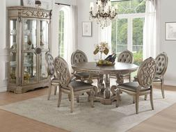 Acme Northville 5 Piece Round Dining Table Set 66915