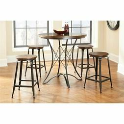 Steve Silver Adele Round Counter Height Dining Table in Birc