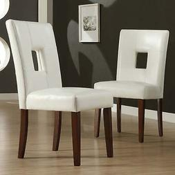 Alsace White Faux Leather Dining Chairs  by White N/A