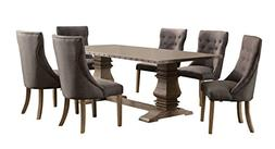 Homelegance Anna Claire 7-Piece Dining Set 84-inch Zinc Top