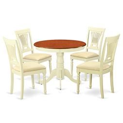 East West Furniture ANPL5-WHI-C 5-Piece Kitchen Table Set, B
