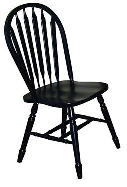 Sunset Trading Arrowback Dining Chair in Antique Black, Set