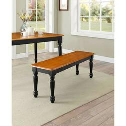 Autumn Lane Dining Bench Farmhouse Solid Wood Construction A