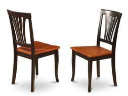 East West Furniture AVC-BLK-W Chair Set for Dining Room with