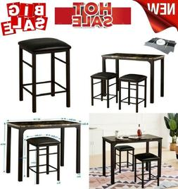 Bar Height Table Set Dining Small Pub Kitchen Chairs High To