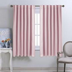 NICETOWN Bedroom Draperies Blackout Curtain Panels -  52 x 6
