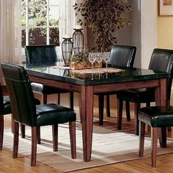 Steve Silver Bello Granite Casual Dining Table Rich Cherry F