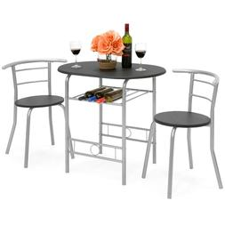 Best Choice 3-Piece Wooden Kitchen Round Table And Chair Set