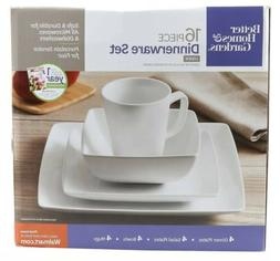 Better Homes and Gardens Loden 16-piece Porcelain Coupe Squa