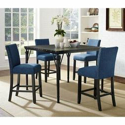 Roundhill Furniture Biony 5 Piece Counter Height Dining Set