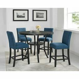 Roundhill Furniture Biony 5 Piece Wood Counter Height Dining