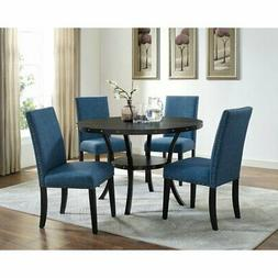 Roundhill Furniture Biony 5 Piece Wooden Dining Table Set