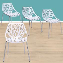 Birds Nest Dining Side Chair in White, Modern Dining Chairs