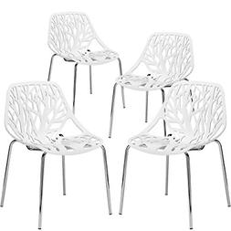 Poly and Bark Birds Nest Dining Side Chair in White