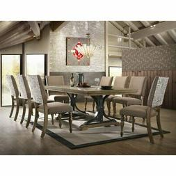 Roundhill Furniture Birmingham 9 Piece Butterfly Leaf Dining