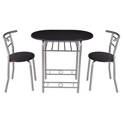 Giantex 3 PCS Bistro Dining Set Table and 2 Chairs Kitchen F