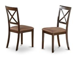 East West Furniture BOC-CAP-C X-Back Dining Chair Set with F