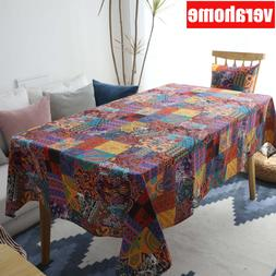 Bohemian linen tablecloth table cover background Kitchen <fo