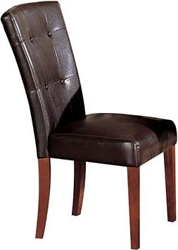 Acme Furniture ACME Bologna Dining Chair in Brown Cherry